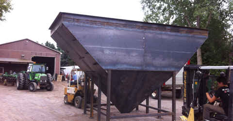 grain hopper bending-shearing-metal-buesink-farming