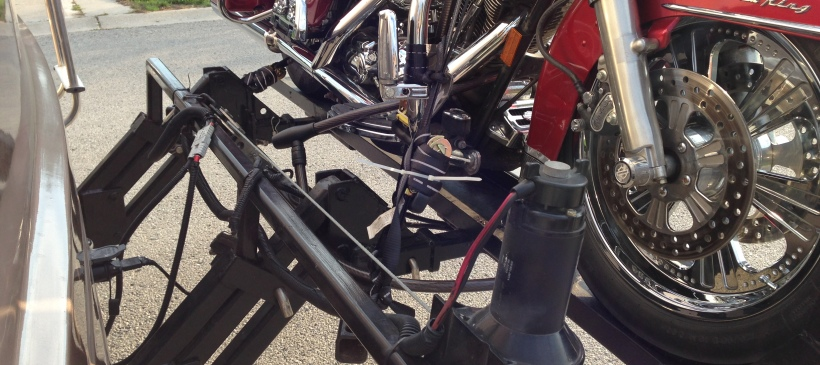 Manufacture and Install Heavy Duty Hitch and Motorcycle Lift