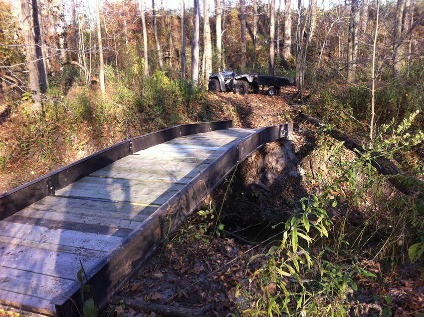 Bridge Beams for Creek Crossing